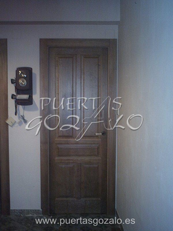 Puertas de interior madera maciza puertas gozalo for Precio puertas interior madera maciza