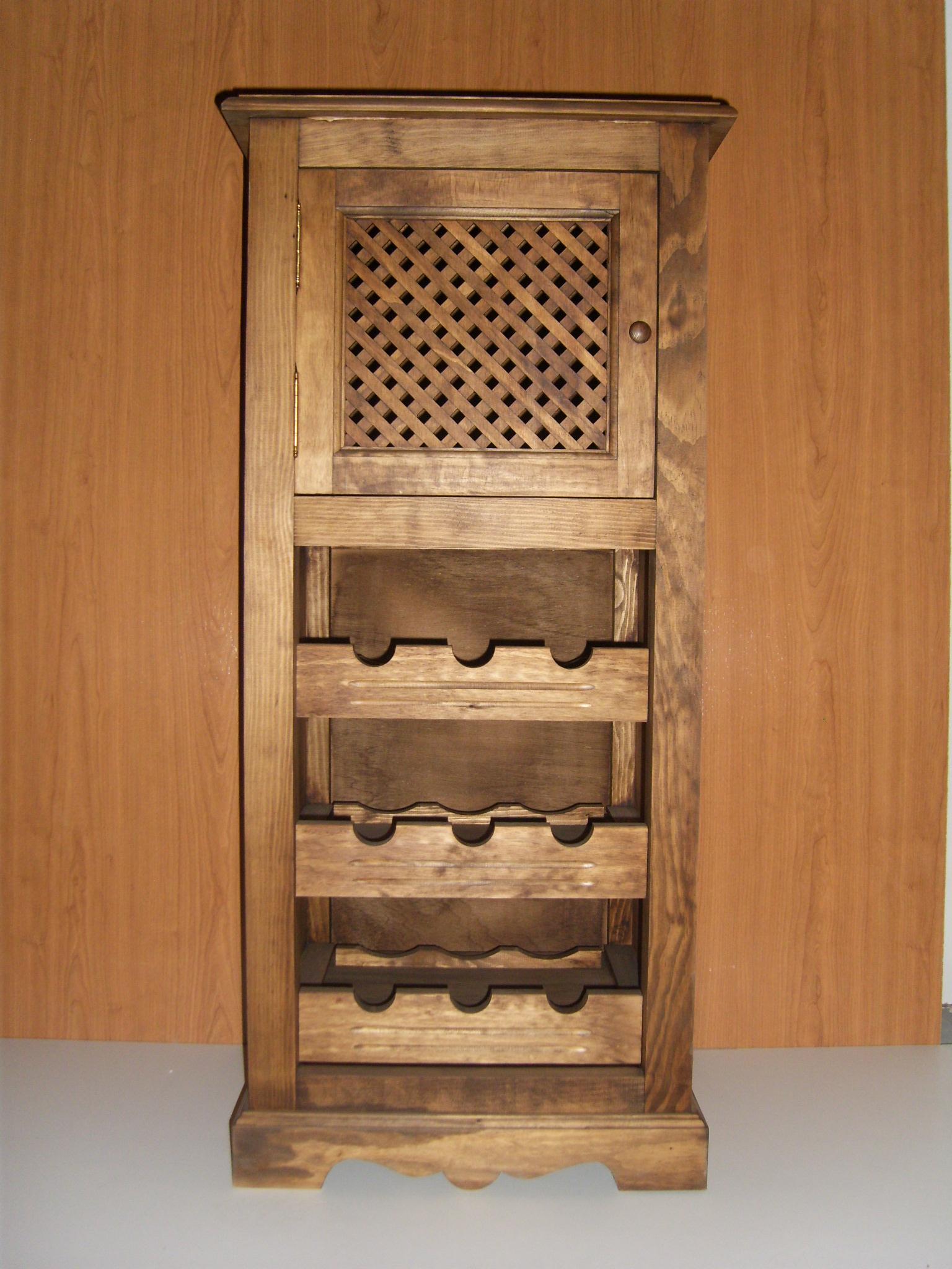 Mobiliario y decoraci n r stica puertas gozalo - Botelleros de madera rusticos ...