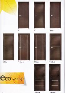 Puertas lisas eco wengue