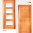 Puerta con largueros veta vertical y parte central veta horizontal dos canales verticales y 5 horizontales