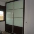 armrario modular corredero cristal lacado y panel wengue