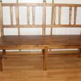 Banco en madera de pio con respaldo.Se fabrica en varios modelos y medidas.Consultar precios.