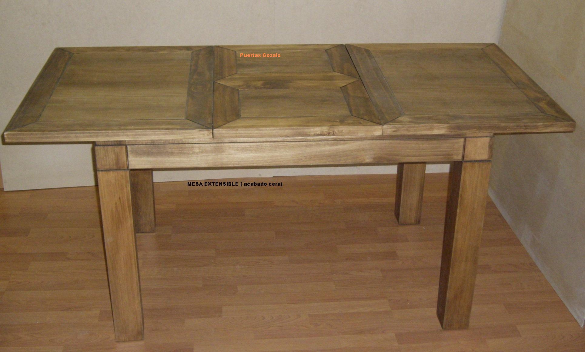 Mobiliario y decoraci n r stica puertas gozalo for Precios de mesas de cocina